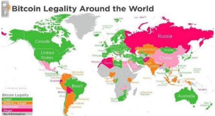 比特币合法性地图