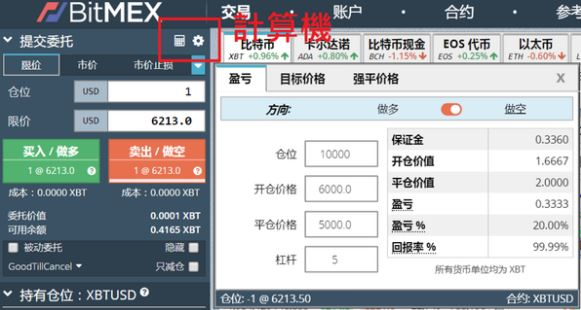 BitMEX交易教學