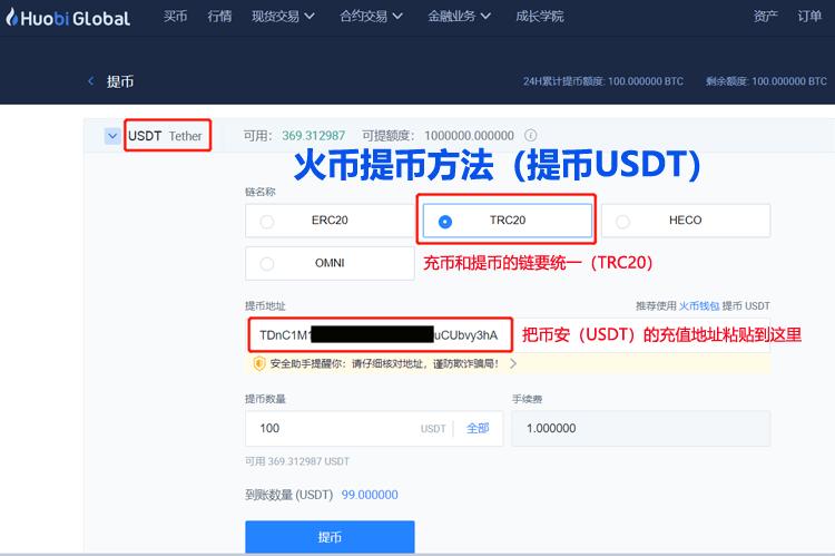USDT提币方法